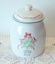 Corelle CALLAWAY HOLIDAY Cookie Jar Jay Import Stoneware Ivy Topiary Christmas