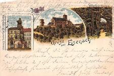 Gruss aus Eisenach Luther Denkmal Wartburg Bahnpost 1900 Postkarte