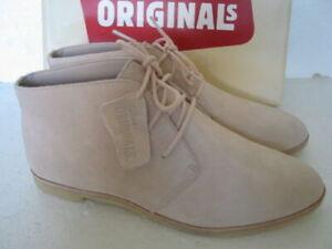 New Clarks Originals Phenia Desert Light Pink Lace Up Boots UK Size 5