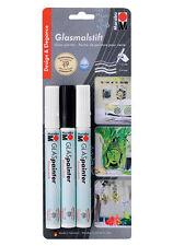 Marabu Glas Pintor-Vidrio Pintura Marcadores-Diseño Y Elegancia Surtido