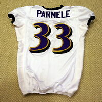 #33 Jalen Parmele - Baltimore Ravens NFL Locker Room Player Worn Jersey - BR1692
