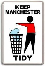 Manchester United, Keep Manchester Tidy Fridge Magnet Free Postage