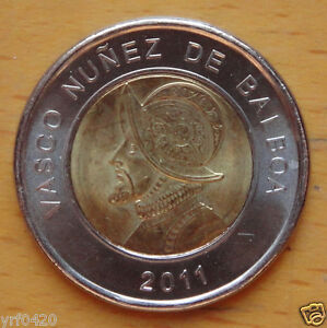Panama Bimetallic Coin 1 Balboa 2011 UNC