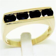 2.0ct Sapphire 9ct 9K Solid Gold Gents Mens Ring - 30 Day Refund