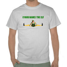 Buddy The Elf Tshirt - Customisable Name - Cotton Custom xmas T-shirt Gift