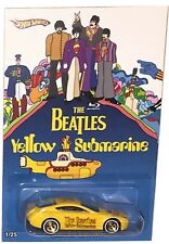 "Austin Martin V8 Vantage CUSTOM-Made Hot Wheels The BEATLES ""YELLOW SUBMARINE"""