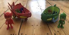 PJ Masks Vehicles And Figures Bundle - Owelette And Gekko.