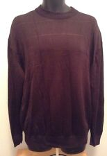 Tulliano Men's Sz Large Brown Long Sleeve Pullover Sweater H3