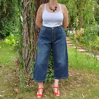 Jean pantalon Femme Grande Taille 48 demin bleu coton boyfriend ZAZA2CATS new