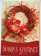 hallmark wreath card 16 count seasons greetings