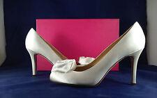 Kate Spade Karmen Women's Bridal &Dressy Evening White Satin Pumps 8.5 M