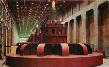 Tacoma Washington~McNary Dam~70,000 Kilowatt Generators~Powerhouse~1960 Postcard