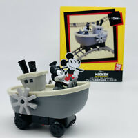 Disney Mickey Mouse Steamboat Willie Figure Toy Car & Rail Set 90th Anniversary