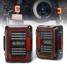 5D LED Tail Lights Brake Reverse Turn Lamps for Jeep Wrangler JK JKU 2007-2018