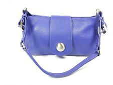 Precis petite violet purple leather handbag 28cm x 15cm super condition