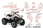 CanAm Renegade500/800/1000 AMR Racing Graphic Kit Wrap Quad Decal ATV SILVERHAZE