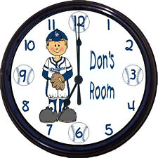 LA Dodgers MLB Baseball Dodger Stadium Turner Kershaw Personalized Wall Clock