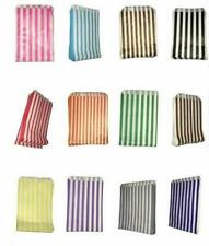 More details for 100 - striped candy paper bags for sweet favour buffet wedding cake gift 5