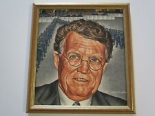 VINTAGE ANTIQUE PAINTING WPA STYLE INDUSTRIAL FACTORY WORKERS PORTRAIT LISTED