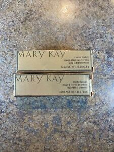 2 Mary Kay Creme Lipstick One Woman Can Full Size NIB, NOS .13 Oz.