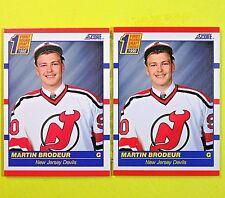 ( Lot of 2)  MARTIN BRODEUR 1990-91  ROOKIE   Score #439 Amer.   NJ Devils