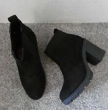 Topshop Black BYRON Unit Heeled Chelsea Ankle Boots Size UK 2 EU 35