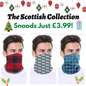 Scottish Snood / Face Covering - Saltire & Tartan - Washable & Reusable