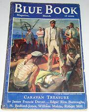 BLUE BOOK MAGAZINE V62 NO. 5 GOLDEN AGE PULP 1936 ERB TARZAN  Free Shipping