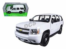 WELLY 2008  CHEVROLET TAHOE SUV 1/24 UNMARKED POLICE CAR WHITE 22509