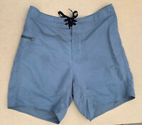 Patagon Mens Nylon Board Shorts Surfing Swim Trunks One Pocket Gray Size 36