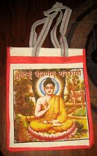 Female Buddha Kwan Yin Bollywood India Canvas Tote Grocery Market Bag Carry All