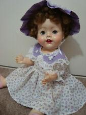 "Beautiful Vintage 21"" Hard Plastic Pedigree toddler  doll"
