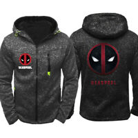 Deadpool Hoodie Warm Jacket Sports Sweatshirt Superhero Full-Zip Coat Spring