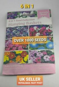 Flower Seeds Hanging Basket Seeds 6 In 1 Collection Fast Post UK SELLER