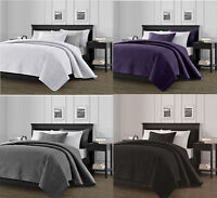 3-Piece Solid Bedspread Coverlet Pillow Case Set at Linen Plus