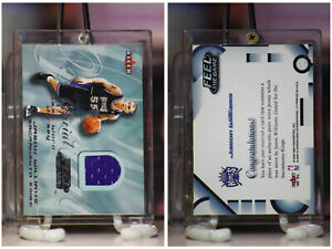 2000-01 JASON WILLIAMS FLEER FEEL THE GAME RELIC (PURPLE JERSEY)