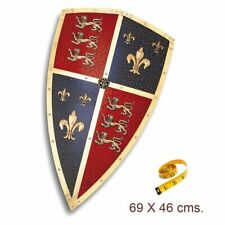 Réplica de acero del escudo de ceremonia de El Príncipe Negro. 69x46 cms.