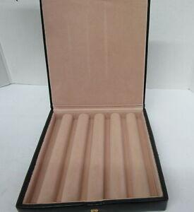 Vintage Paradise Pen/Pencil Leather Case Black
