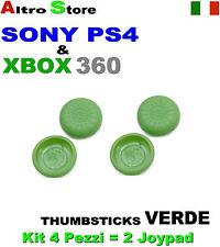 4 PEZZI ANALOGICO CONTROLLER DUALSHOCK THUMBSTICKS GRIPS VERDE PS4 SONY XBOX360