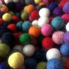 1cm plain wool felt balls x 40 grab bag multi colour mix for crafts & sewing
