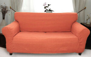 Elastic Slip Sofa Cover 1 2 3 seater PLAIN (orange)