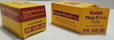 Kodak Plus X Pan PX 135-20 & 135-36 Black & White Film -Expired - Lot Of 2 Rolls