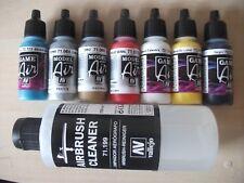 Art Ongles Peinture Set, Secteur Couleurs & Metallics 7 X 17ml Bouteilles &