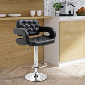 HOMCOM Bar Stool Modern Kitchen PU Pub Barstool Seat Home Dining Chair Room