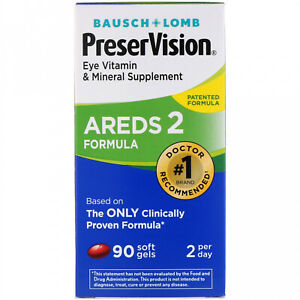 Bausch And Lomb, PreserVision, AREDS 2 Formula, 90 Soft Gels