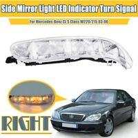 For Mercedes-Benz CL S Class W220 2003-06 Right Side Mirror Light LED