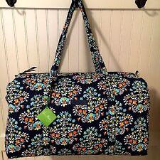 Vera Bradley LARGE DUFFEL CHANDELIER FLORAL Bag Weekender Travel Luggage NWT
