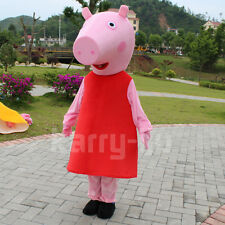Peppa Pig Costume For Adults Daddy Pig Mascot Costume Adult Size