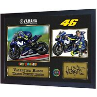 NEW Valentino Rossi Signed autograph print photo Framed,.