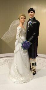Scottish Bride&Groom Wedding Cake Topper